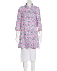 Matthew Williamson - Patterned Button-up Coat White - Lyst