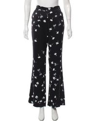 Giulietta - Printed Wide-leg Pants W/ Tags Navy - Lyst