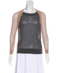 VPL - Knit Long Sleeve Sweater - Lyst
