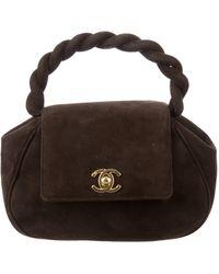 9fd10c1a6b6c Chanel - Vintage Suede Mini Evening Bag Brown - Lyst