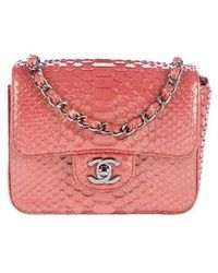 eb79b8acc00b Chanel - 2016 Python Classic Mini Flap Bag - Lyst