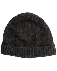 Kate Spade - Textured Knit Hat Grey - Lyst
