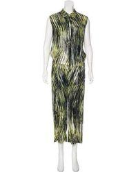 KENZO - Printed Silk Jumpsuit Black - Lyst