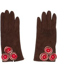 Moschino - Suede Embellished Gloves - Lyst