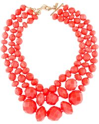 Kate Spade - Resin Give It A Swirl Multistrand Necklace Gold - Lyst