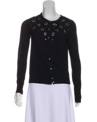 Draper James - Embellished Wool Cardigan Black - Lyst