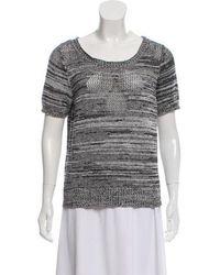 Z Spoke by Zac Posen - Short Sleeve Knit Top Grey - Lyst