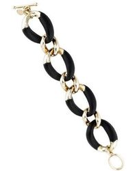 Alexis Bittar - Neo Bohemian Lucite Curb Link Bracelet Gold - Lyst