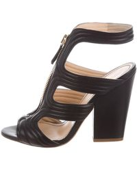 Jerome C. Rousseau - Quilted Cage Sandals Black - Lyst