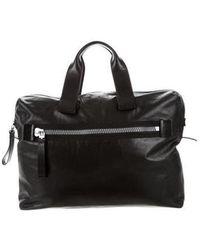 Lanvin - Leather Convertible Satchel Black - Lyst