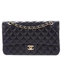 8bb5c9204738 Lyst - Chanel Patent Medium Classic Double Flap Bag Red in Metallic
