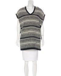 Gryphon - Short Sleeve Knit Top White - Lyst