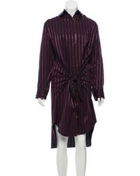 Adam Selman - Midi Striped Shirtdress W/ Tags - Lyst