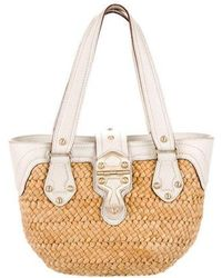 2ea786273cdac8 MICHAEL Michael Kors - Michael Kors Santorini Straw Shopper Bag Tan - Lyst