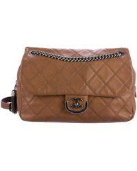 6743292b411222 Chanel - Paris-edinburgh Coco Sporran Large Flap Bag Brown - Lyst