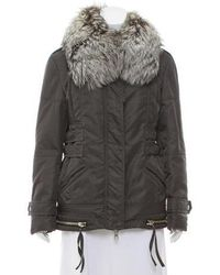 Altuzarra - Fur-trimmed Short Coat Grey - Lyst