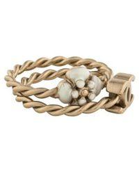 Chanel - Enamel Cc Twist Band Set Gold - Lyst