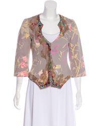 Christian Lacroix - Floral Print Embellished Jacket - Lyst