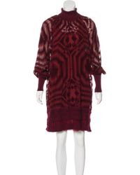 Jean Paul Gaultier - Patterned Mini Dress - Lyst