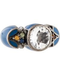 M.c.l  Matthew Campbell Laurenza - Quartz, Sapphire, & Enamel Ring Silver - Lyst