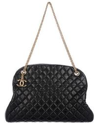 Lyst - Chanel Pre-owned Mademoiselle Bowling Bag in Black db29c02799651