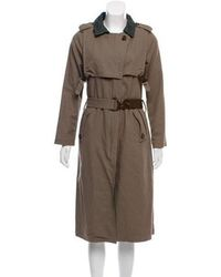 Nicholas K - Leather-trimmed Trench Coat - Lyst