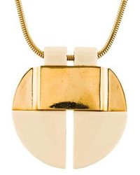 Lanvin - Resin Pendant Necklace Gold - Lyst