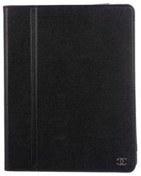 Chanel - Caviar Ipad Case Black - Lyst