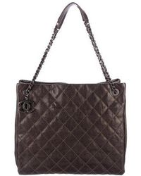 09194fa92a39 Lyst - Chanel Chic Quilt Bowling Bag Silver in Metallic
