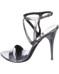 Narciso Rodriguez - Ankle Strap Sandals Silver - Lyst