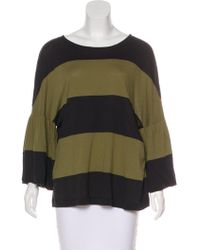 81eaff380e9b0b Lyst - Dries Van Noten Oversize Organza Blouse Olive in Green