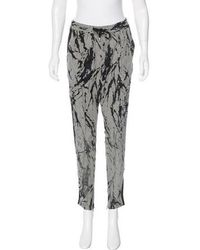 CoSTUME NATIONAL - Cropped Skinny Pants - Lyst