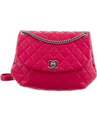 Lyst - Chanel Daily Zippy Crossbody Bag Grey in Metallic 0e21c7e62b