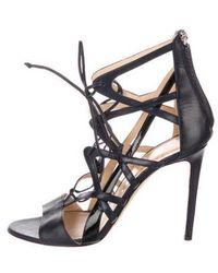 Alejandro Ingelmo - Leather Caged Sandals - Lyst