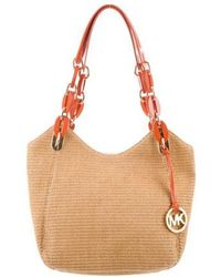 MICHAEL Michael Kors - Michael Kors Straw Lilly Shoulder Bag W/ Tags Tan - Lyst