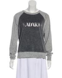 Rodarte - Graphic Print Velvet Sweatshirt Grey - Lyst
