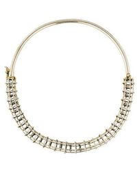 Anndra Neen - Cage Collar Necklace Gold - Lyst