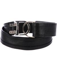 Dior - Leather Buckle Belt Black - Lyst