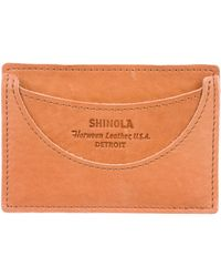 Shinola - Leather Card Holder Tan - Lyst