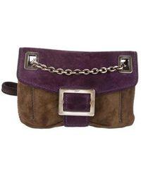 Roger Vivier - Micro Viv Crossbody Bag Purple - Lyst