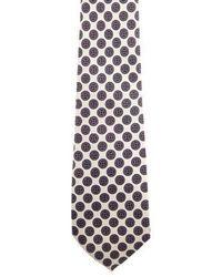 Dior - Printed Silk Tie Navy - Lyst