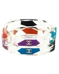 Chanel - Multicolor Geometric Cuff - Lyst