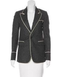 f0a9ef9bed5 Lyst - Dior Silk Shawl Collar Jacket Navy in Blue
