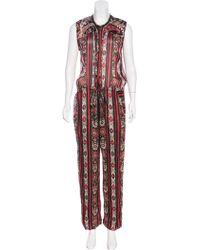 Étoile Isabel Marant - Printed Sleeveless Jumpsuit - Lyst