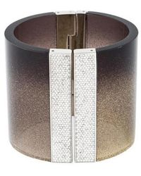 Michael Kors - Cityscape Shimmer Wide Cuff Silver - Lyst