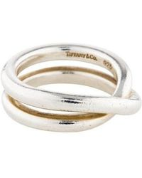 Tiffany & Co. - Crossover Band Silver - Lyst