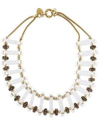 Giles & Brother - Lucite Collar Necklace Gold - Lyst