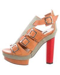 Chrissie Morris - Priscilla Cage Sandals W/ Tags Cognac - Lyst