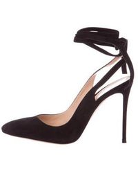 Gianvito Rossi - Suede Wrap-around Pumps - Lyst