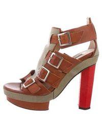 Chrissie Morris - Ida Stingray Platform Sandals Tan - Lyst